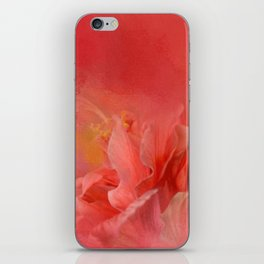 Salmon Hibiscus 3 - Floral iPhone Skin