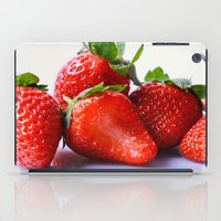 strawberry iPad Cases featuring Strawberry by Nicole Mason-Rawle