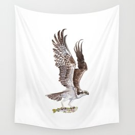 Osprey and Rainbow Trout Wall Tapestry