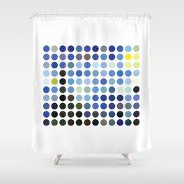 Van Gogh's Stary Night Remixed Shower Curtain