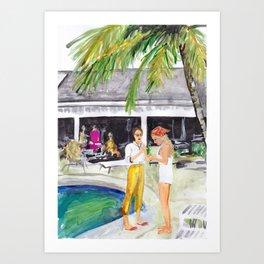 Villa Party Art Print