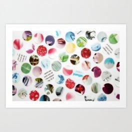 Collage Dots - JUSTART © Art Print