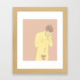 Smokey Hair Framed Art Print