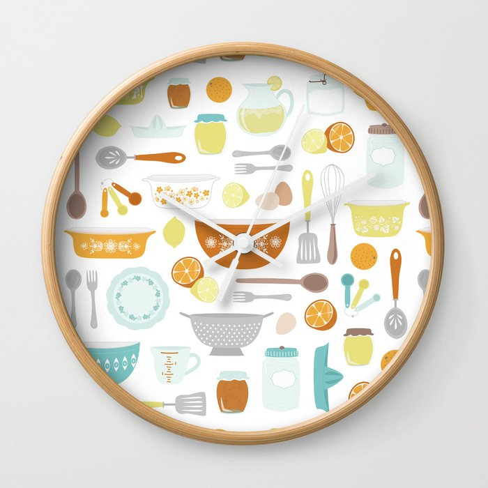 Citrus Kitchen Wall Clock by carolinemoore