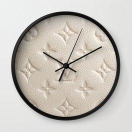 LV Cream Wall Clock