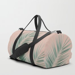Soft Green Palm Leaves Dream - Cali Summer Vibes #1 #tropical #decor #art #society6 Duffle Bag