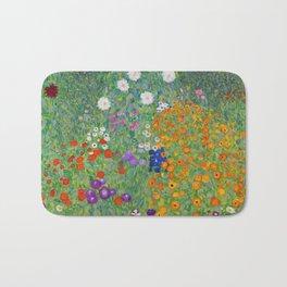Gustav Klimt Flower Garden Floral Art Nouveau Bath Mat