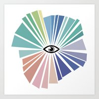 all seeing eye Art Prints featuring All seeing eye  by Nobra