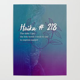 Neici Parker Haiku - 218 Poster