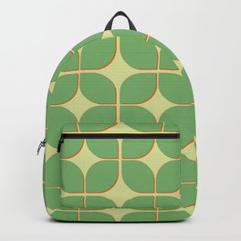 Retro green geomtric 3d pattern Backpack