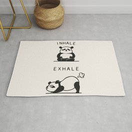 Inhale Exhale Panda Rug