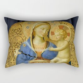 """Fra Angelico (Guido di Pietro) """"Madonna of Humility"""" 1440 Rectangular Pillow"""
