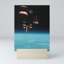 The Best View In The World - Space Aesthetic, Retro Futurism, Sci Fi Mini Art Print