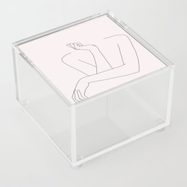 Woman's crossed arms line drawing - Anna Natural Acrylic Box