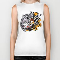 lantern Biker Tanks featuring Lantern by T.I.B ARTWORK