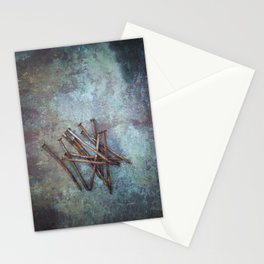 a bunch of nails Stationery Cards
