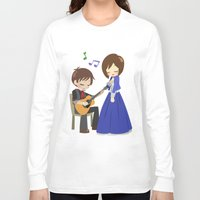 bioshock infinite Long Sleeve T-shirts featuring Bioshock Infinite - Booker and Elizabeth by Choco-Minto