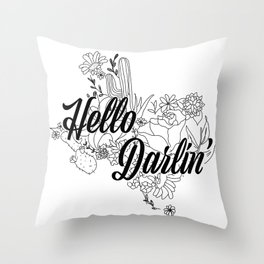 Texas Darlin Throw Pillow