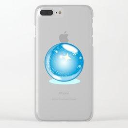 Christmas Star Globe Clear iPhone Case