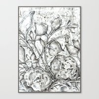 lace Canvas Prints featuring Lace by Irina  Mushkar'ova