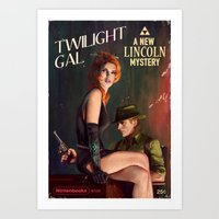 twilight Art Prints featuring Twilight Gal by Astor Alexander