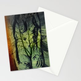 bird and tree Stationery Cards