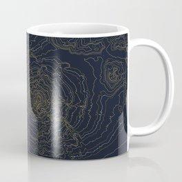 Mt. Shasta, California Topographic Contour Map Coffee Mug