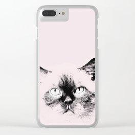 pink cat Clear iPhone Case