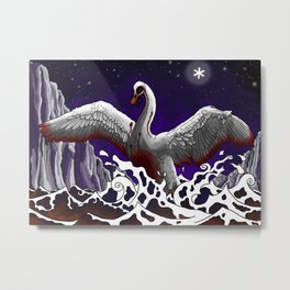 Swan of Tuonela Metal Print