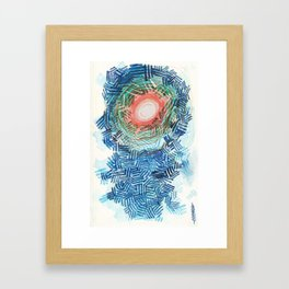 Sun through the Clouds Framed Art Print