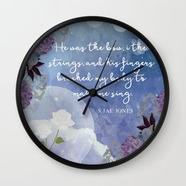 He Was The Bow, I The Strings Wall Clock