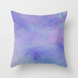 Watercolour Galaxy - Purple Speckled Sky Throw Pillow