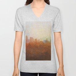 Kansas City, Missouri Skyline - In the Clouds Unisex V-Neck