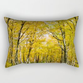 Path Towards Fall (Nature Photography) Rectangular Pillow