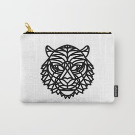 Tiger Head (Geometric) Carry-All Pouch