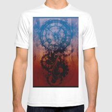 Steampunk clock White MEDIUM Mens Fitted Tee