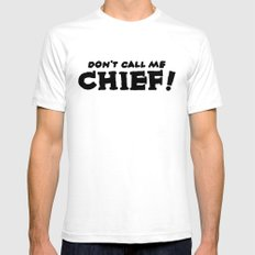 Chief White SMALL Mens Fitted Tee