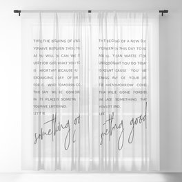 A New Day Motivational Quote Sheer Curtain