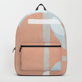 Pink and light blue are dating in this abstract poster Backpack