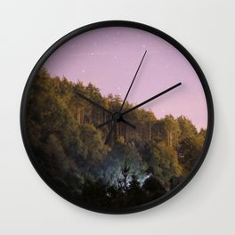 Daynight woodland activities Wall Clock