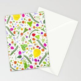 Leaves and flowers (9) Stationery Cards