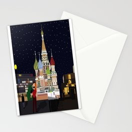 Love at the Moscow Kremlin Stationery Cards