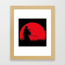 Samurai X Framed Art Print