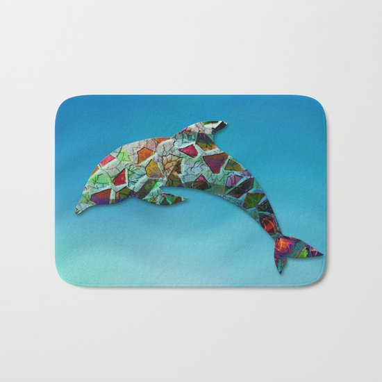 Animal Mosaic - The Dolphin Bath Mat