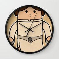 leia Wall Clocks featuring Leia by thejrowe