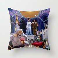 princess bride Throw Pillows featuring Bride of the Castle by Hescox
