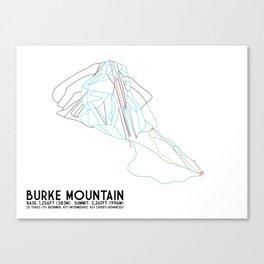 Burke Mountain, VT - Minimalist Trail Art Canvas Print