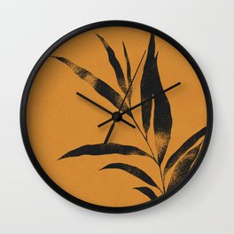 Olive Branch 02 - Ink & Marigold Wall Clock