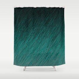 Funky Dark Cyan Shower Curtain