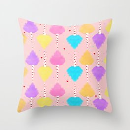 Sweet & Cute Cotton Candy Pattern Throw Pillow